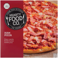 Hearty Food Co. šunková pizza