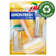 4MAX Lemon Fresh WC blok citrus 3 x 40 g