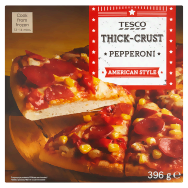 Tesco American Style Thick-Crust Pepperoni pizza 396 g