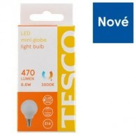 Tesco LED žiarovka 6.6W (40W) E14