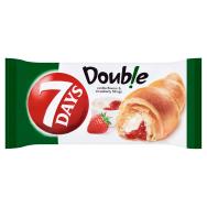 7d581296e 7 Days Double Croissant s náplňou s vanilkovou príchuťou a s jahodovou  náplňou 60 g