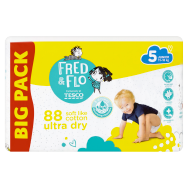Fred & Flo Ultra Dry plienky 5 Junior 88 ks