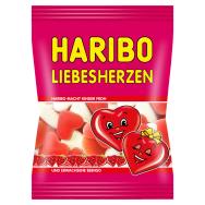 Haribo Liebesherzen želé cukrovinky s ovocnou príchuťou s penovým cukrom  100 g 350a0ebae82