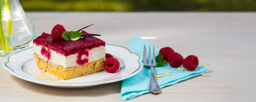 Malinový koláč s mascarpone
