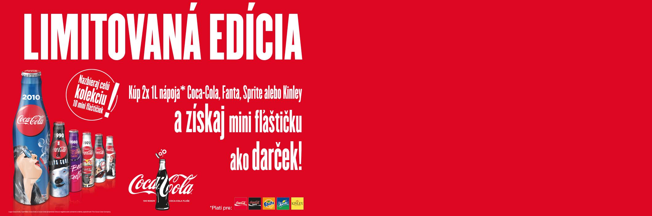 Zapojte sa do zberateľskej akcie o mini Coca-Cola fľaštičky
